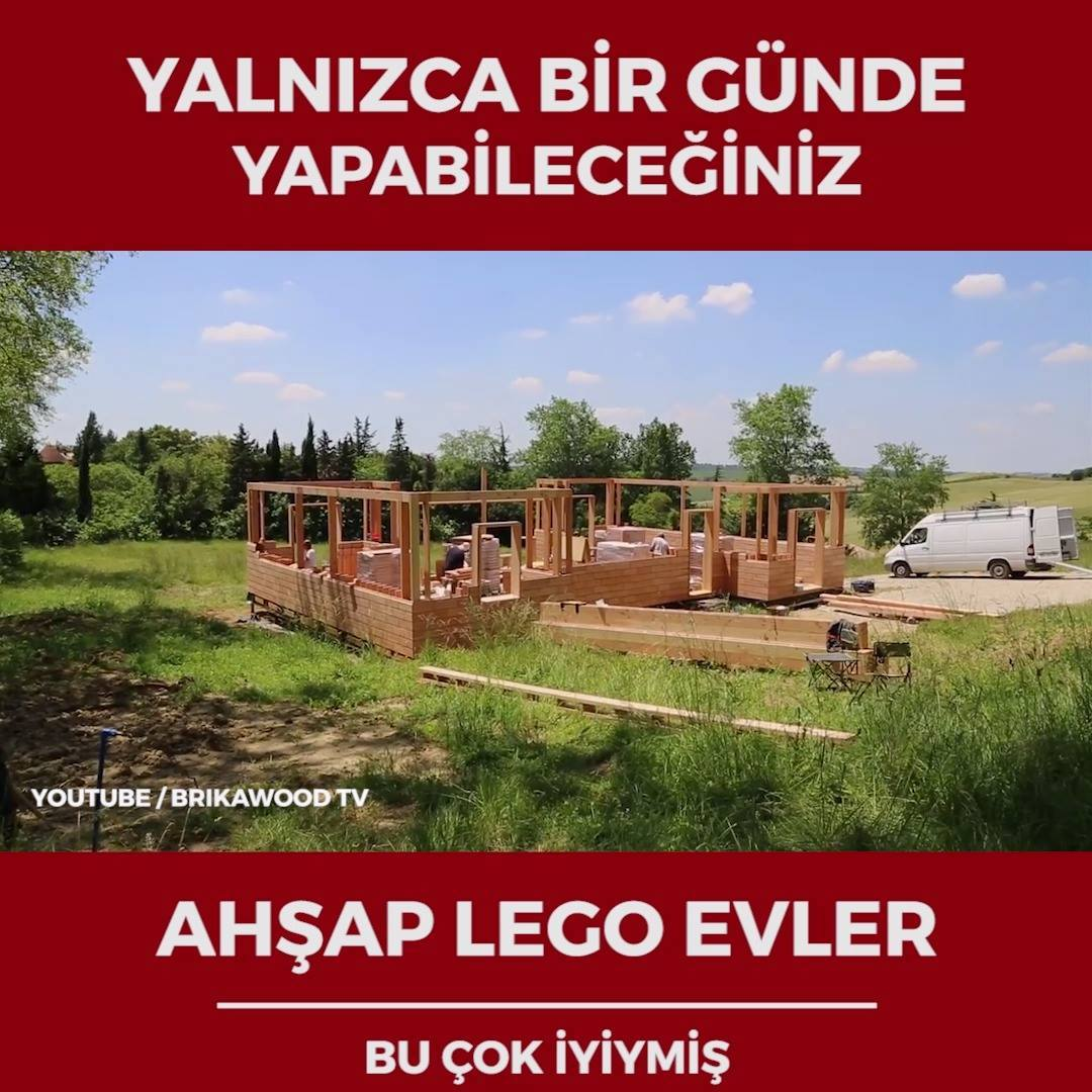 Harika ve Pratik Ahşap Lego Evler - Video İzle - İndir