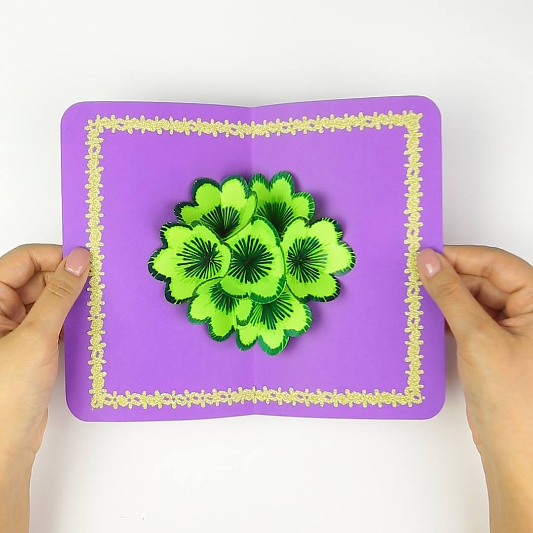 Как сделать 3д цветы в открытке, наступающим рождеством картинках