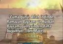 CUMA GÜNÜ VE ÖNEMİ..