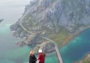 A beautiful proposal in Henningsvr Norway