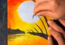 Amazing art drawing with wax colour..