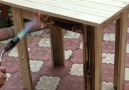 Amazing DIY wooden table! Credit Cemal Açar