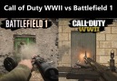 An interesting comparison between Call of Duty WWII and Battlefield 1
