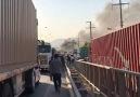 Araba yanıyor araç yangını 2 patlama sesi