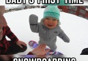 Baby's First Time Snowboarding