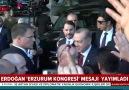 Başkan Erdoğandan Erzurum Kongresi mesajı