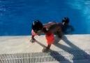 Batuhan ve Bartu'nun havuz keyfi