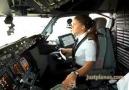 Bayan pilottan muhteşem iniş