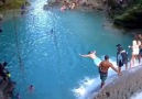 Beautiful Waterfall jumping at the Blue Hole Jamaica