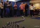 10 bin iPhone 5'le domino gösterisi
