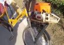 Bisiklete Testere Motoru Takan Yurdum İnsanıKaynak Ahmet Obalı