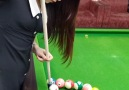 Caption Hits - Good Talent Beautiful Girl Playing Snooker Video in 2020