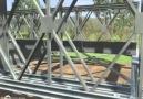 Çelik köprü imalatı animasyonu.