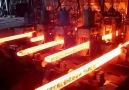 Çelik kütük kesme işlemi