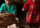 Çocukların hayvan sevgisi görülmeye değer