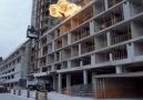 Compressed gas explosion kills worker.