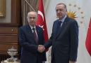 Cumhurbaşkanı Erdoğan Bahçeliyi kabul etti