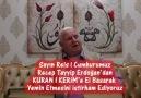 Cumhurbaşkanımız'dan Kuran'a El Basarak Yemin Etmesini İstiyoruz