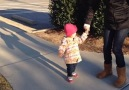 Cute Little Girl Doesn't Like Sidewalk Cracks