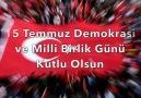 Demokrasi ve Milli Birlik Günü kutlu olsun!