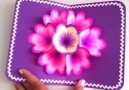 DIY 3D flower pop up card!By Handmade with Aniko