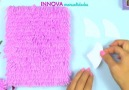DIY ideas! How to decorate notebooks with wool!Via Innova Manualidades