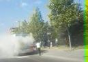 Doğukent Bulvarında halk otobüsünde yangın çıktı.