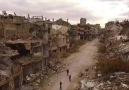 Drone footage over Homs