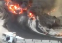 Duhok ve Zaho Arasında Meydana Gelen Yakıt Yüklü Tanket Patlaması