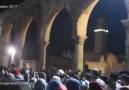 Dün gece Kudüs ve Mescid-i Aksa