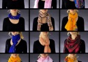 12 easy and elegant scarf wraps. bit.ly2t1aff9