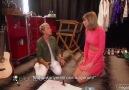 Ellen, Taylor'u sahne arkasında ziyaret etti. (Türkçe Altyazılı.)