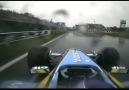 Em 2003 Jarno Trulli teve dificuldades para segurar sua Renault na pista.
