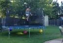 Epic Trampoline Pool Shot