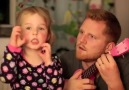 Father and four year old daughter sing a cover of Tonight You Bel