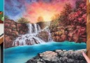 Feliks K - Sunset Waterfall Painting Facebook