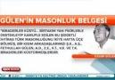 FETULLAH GÜLEN'İN MASONLUK BELGELERİ! İZLE-PAYLAŞ!