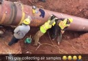 Found on reddit They told the new guy to collect air samples