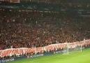 Galatasaray-Real Madrid maçından sonra uA' tribünleri.
