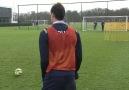 Gareth Bale'in frikik antrenmanından bir kesit