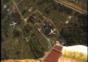 Glider aerobatics at the Moscow AirShow (filmed from the balloon)
