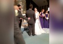 Groom pranks his beautiful wife after the first kissvia JukinVideo