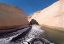 High Speed Jet-Ski Through Canyon