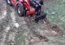 How a telehandler can get out of the mud