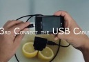 How To Charge Your Phone With A Lemon