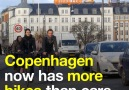 In Copenhagen bikes now outnumber cars. Read more