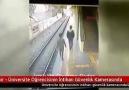 İzmirde İZBAN İntiharı kameralara yansıdı