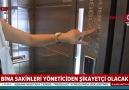 8 katlı binada şifreli asansör uygulaması!