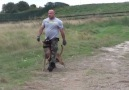 K9 Dog Protects Man