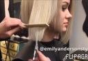 Kısa küt saç kesimi & doğal dalgalar